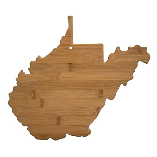 Totally Bamboo West Virginia State Shaped Bamboo Serving and Cutting Board