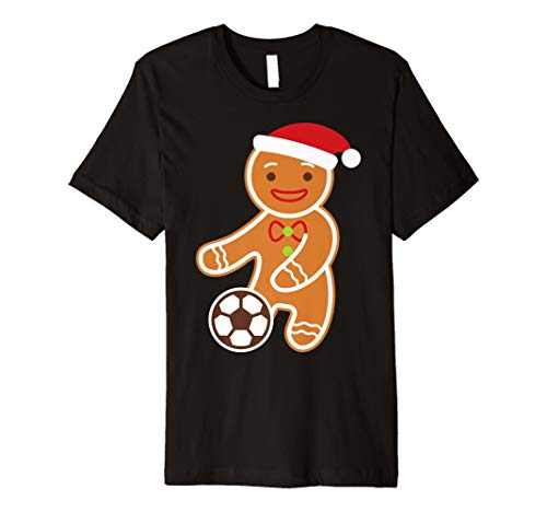 Soccer Player Gingerbread Funny Boy Christmas Shirt