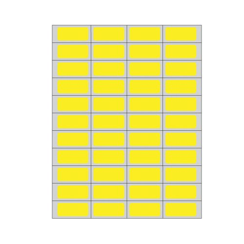 PDC Healthcare DPSL-PC5-2 Piggyback Paper Labels for Laser Printers, Piggyback, Permanent Adhesive, 1.75'' Width x 0.75'' Length, Yellow (Box of 11000) by PDC Healthcare