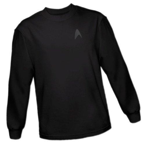 Command Emblem On Black -- Star Trek Into Darkness Adult Long-Sleeve T-Shirt, Large