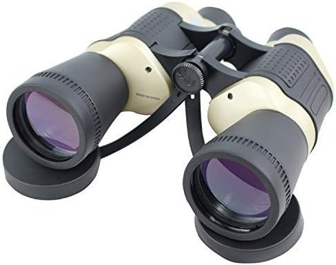 Lastworld 30X50 Perrini Black Tan Free Focus Binoculars 119M 1000M with Strap Pouch