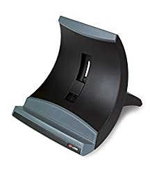 3m Laptop Stand, Raise Screen Height To Reduce Neck Strain, Vertical Design Allows You To Bring Screen Closer, Compact Foot Print Saves Desk Space, Non-skid Base Keeps Laptop Secure, Black (Lx550)
