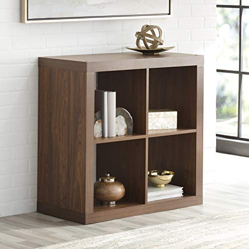 Better Homes and Gardens* Wood Storage Square Organizer 4-Cube Bookshelf in Vintage -