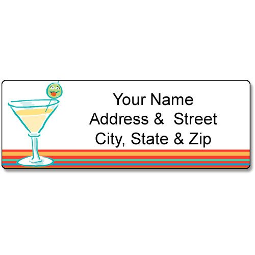 cocktails-address-label-customized-return-address-label-90-martini-labels