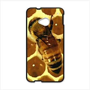 Best Custom Bee Honeycomb HTC One M7 Plastic and TPU Case, Cell Phone Cover