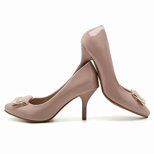 Latasa Womens Pointed-toe High Heel Dress Pumps Nude KCRj3qMnSU