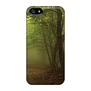 Protective Tpu Case With Fashion Design For Iphone 5/5s (green Mist Forest)