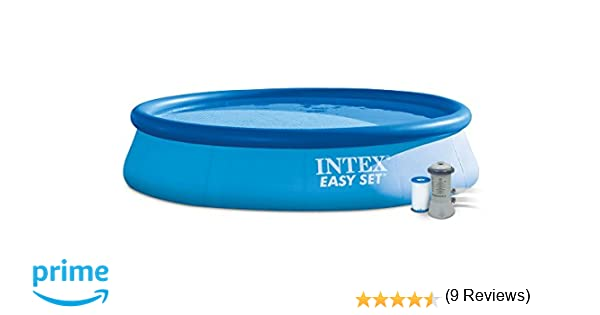 INTEX Easy Set - Piscina con Bomba de Filtro, 396 x 84 cm