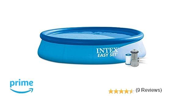 INTEX Easy Set - Piscina con Bomba de Filtro, 396 x 84 cm: Amazon ...