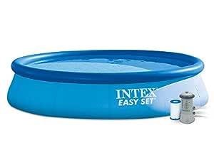 INTEX Easy Set - Piscina con Bomba de Filtro, 396 x 84 cm
