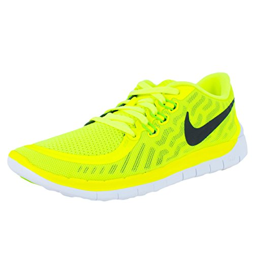 Nike Free 5.0 (GS) Zapatillas de running, Niños - Volt/Black/Electric Green
