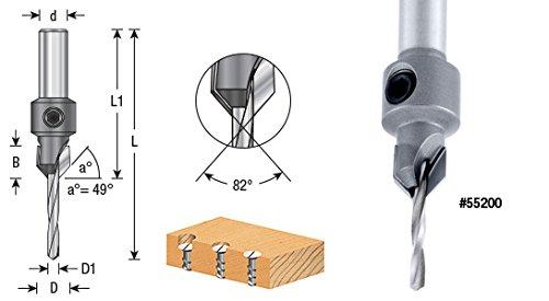 Amana Tool 55212 Carbide Tipped Countersink #12 Screw 15//32 Dia x 7//32 Drill Dia x 3//8 R