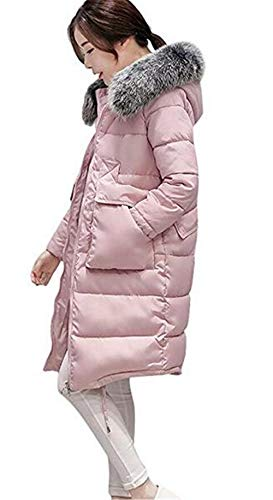 Pelliccia Moda Giubotto Con Piumino Cappotti Lunga Plus Prodotto Rosa Betrothales Manica In Outdoor Addensare Invernali Cappuccio Piumini Donna Eleganti TJc31KlF