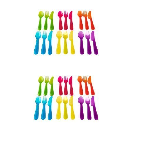 Ikea Kalas 36 Piece Plastic PBA Free Colorful Cutlery Set