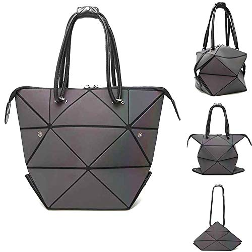 Geometric Changeable shape Bag Luminous Top Handle Satchel Shoulder Large Bag