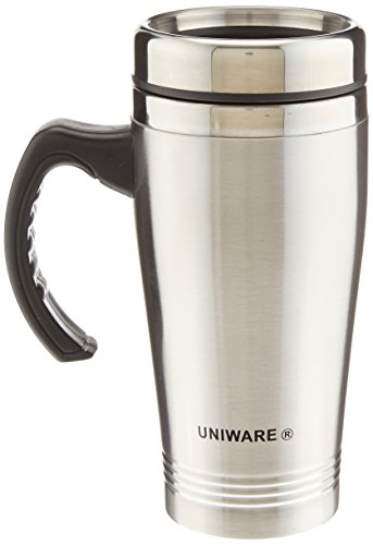 Uniware 2411 16 Oz Stainless Steel Travel Mug