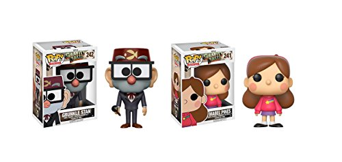 Funko POP Animation Disney Gravity Falls: Grunkle Stan and Mabel Pines Toy Action Figure - 2 POP BUNDLE