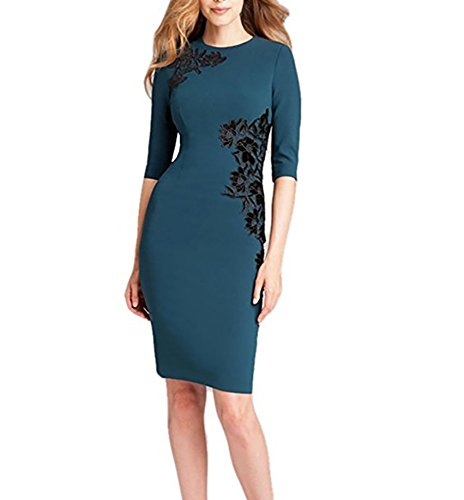 Teri Jon Floral Applique Sheath Dress 7309 10