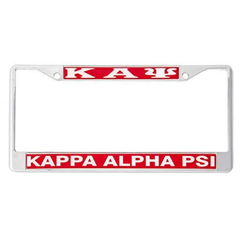 Desert Cactus Kappa Alpha Psi Metal License Plate Frame for Front Back of Car Nupe (Metal - Standard)
