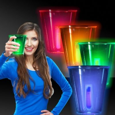Neon Glow Cups-12oz-4 Pack (12 Ounce Glow Cup)