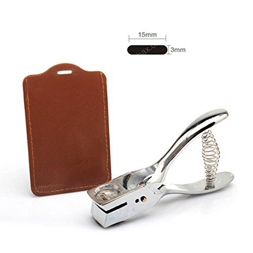 Awakingdemi Metal Hand Slot Puncher ID Card Badge Lanyard Slot Punch Plier Badge Hole Tag Tool (Lanyard Hole)