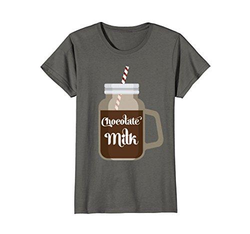 Womens Chocolate Milk Cute T-shirt Dairy Lovers Tee Small (Chocolate Lovers Milk)