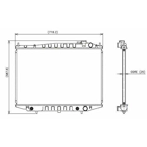 Denso 221-3400 Radiator ()