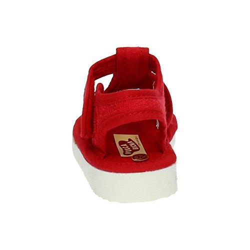 Vulca Bicha 106 Zapatillas de Lona Niño Zapatillas CASA Rojo