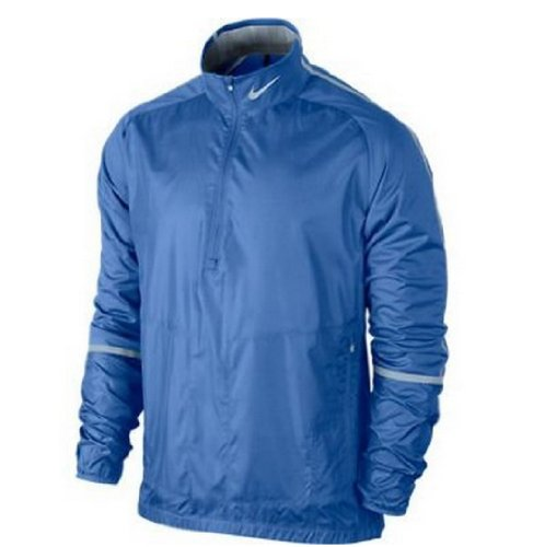 Nike Men's Half Zip Wind Golf Jacket (Small, Distance Blue) (Nike Mens Windshirt)