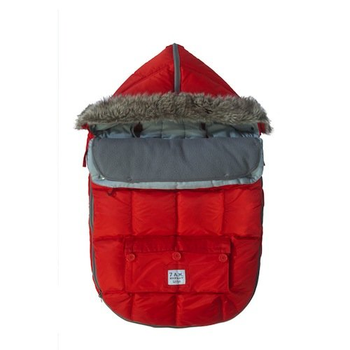 7AM Enfant ''Le Sac Igloo'' Footmuff, Converts into a Single Panel Stroller and Car Seat Cover, Red, Medium by 7AM Enfant