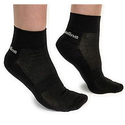 3 Pairs of Cotton Ankle Socks Women & Men Modern Design Black US Size 7-10: Sports & Outdoors