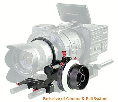 FILMCITY HS-2 Professionnel Hi-Grade Follow Focus avec A//B Hard arr/êtez pour 15 mm Rod soutien /& Cam/éra vid/éo DSLR Stabilisateur epaule Rigs Ceinture dengrenage et La vitesse manivelle HS-2