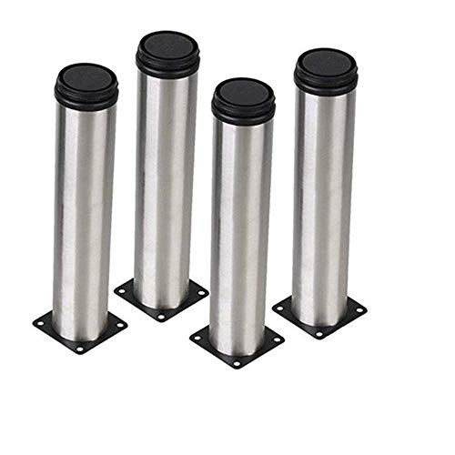 AOWISH 4-Pack 200 mm(8 Inch) Stainless Steel Furniture Cabinet Metal Legs Round 2