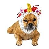 Zoo Snoods Unicorn Dog Costume - Neck and Ear Warmer Headband for Pets (Small)