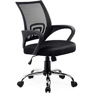 Amazon Brand – Umi Chaise de Bureau Fauteuil Pivotant Siège Ergonomique Rembourré Réglable en Hauteur avec Accoudoirs…