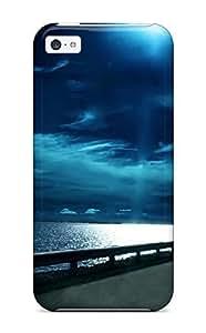 linJUN FENGCXoSgHQ1678mwbfF Case Cover, Fashionable ipod touch 5 Case - Moon Night Ocean Road Amp Digital