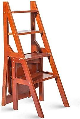 WCS Escalera multifunción Taburete Hogar Madera maciza IKEA Niños Silla plegable Provincia Espacio Escalera de cuatro