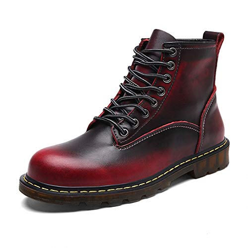 Giles Jones Motorcycle Boots for Men Autumn Winter Lace-up Non-Slip Shockproof Combat Boots