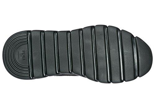 Fendi Zapatos Zapatillas de Deporte Hombres Nuevo Reflex Negro