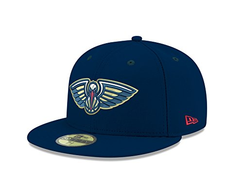 NBA New Orleans Pelicans Men's Official 59FIFTY Fitted Cap, 7.25, Navy ()