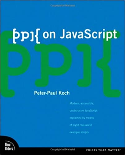 ppk on JavaScript, 1/e