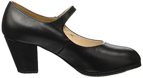 de para Sevilla Miguelito Mujer Tacón Negro color Negro Zapatos EfqgqO