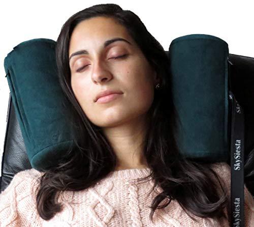 SkySiesta Travel & Recliner Pillow - Foam Head Supports - Green