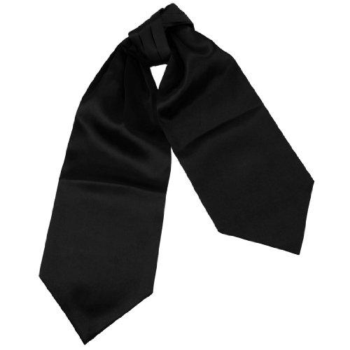 Ascot Tie (DRA7E01K Handsome Gift Giving Black Solid Mens Ascot Business Boyfriend Cravat Evening Designer By Dan Smith)