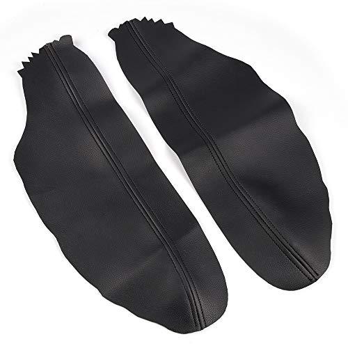 (gplus Black Leather Front Door Panels Armrest Lid Cover Fit for Honda Accord Coupe 2008-2012 Armrest Vinyl Protector Skin 2009 2010 2011)