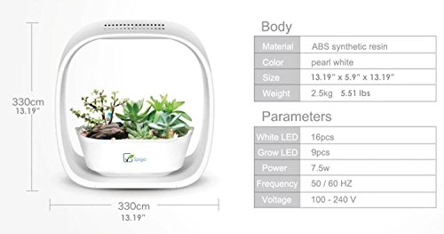 41%2BRCGFxwJL - Spigo Indoor LED Light Grow Garden, Pearl White