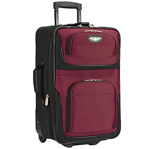 Travelers Choice Travel Select Amsterdam Two Piece Carry-on Luggage Set, Red