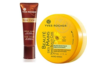 Yves Rocher FRANCE Riche Creme Hand Cream Anti-Wrinkle Ultra-Nourishing, 50 ml tube 50 years mature skin Free Gift Value 45.00 Beaute Mains Beautiful Hands Cream with Organic Arnica enriched with Shea .