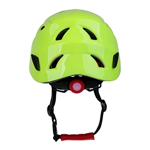 MonkeyJack CE Approved 54 62cm Lightweight Adjustable Rock Climbing Rappelling Rescue Helmet Hard Hat with Vents Chin Pad & Back Ratchet