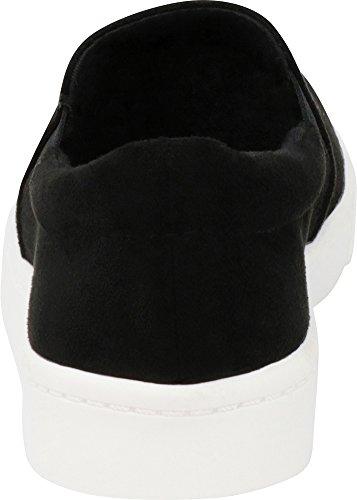 Sole Round Imsu Closed Classic Sneaker On Select Flatform Stretch Fashion Casual Cambridge Black Toe White Women's Slip q1RXaP